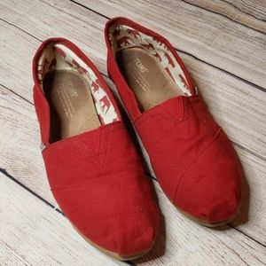 Tom's Red Classic Canvas Slip On